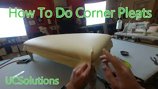 Upholstery for Beginners - How to Finish a Bench Seat - Tricky Corner Pleats Made Simple! thumbnail
