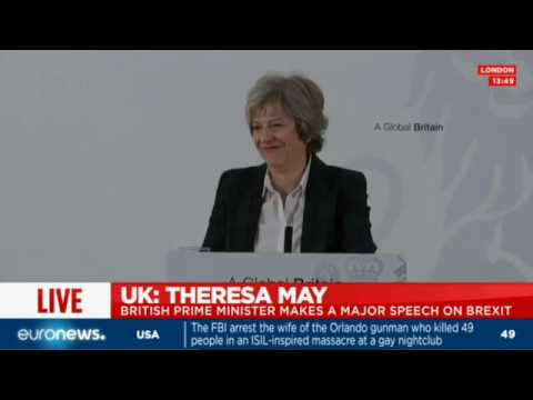 Theresa May's Brexit speech: 'No deal for Britain is better than a bad deal'