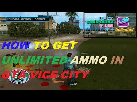 How To Get Unlimited Ammo In GTA Vice City|AKO Hind Gaming|