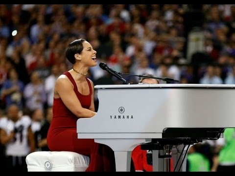 Alicia Keys Performs National Anthem Super Bowl 2013 Youtube