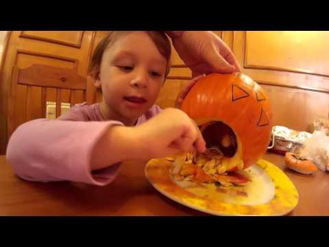 youtube filmek - Halloween tök készítése / Halloween pumpkin - 1. verzió