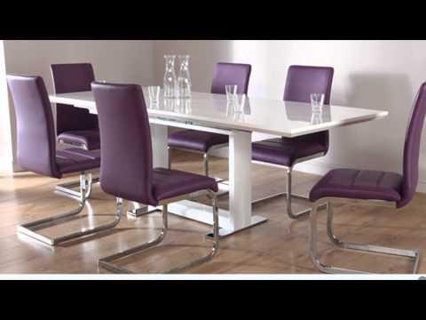 Posh Purple Dining Room Furniture