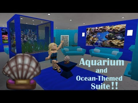 Roblox Bloxburg Fish Aquarium Ocean Room Speed Build By Tanzymary