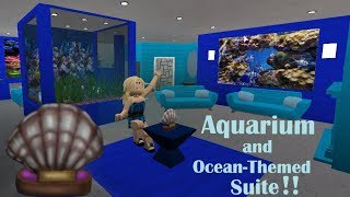 Roblox: Bloxburg - France Fish Aquarium Ocean Room Speed Build!