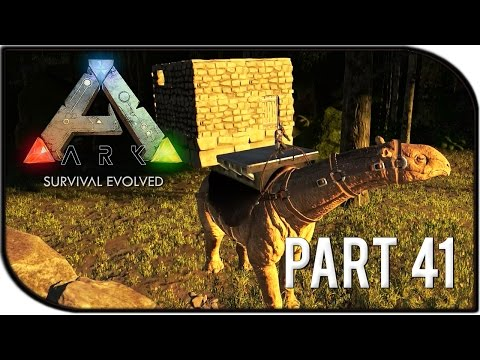 "ARK: Survival Evolved Gameplay Part 41 - ""PARACERATHERIUM BASE BUILDING / SADDLE!"" (Season 2)"