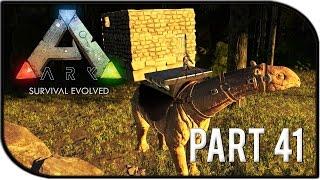"ARK: Survival Evolved Gameplay Part 41 - ""PARACERATHERIUM BASE BUILDING / SADDLE!"" (Season 2)"