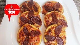 SUCUKLU KANEPELER / sucuklu pizza / börek / yemek / pizza / kanepe / GÜLSÜMÜN SARAYI