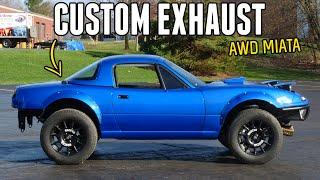 homepage tile video photo for Fabricating a CUSTOM EXHAUST for the Subaru Powered AWD MIATA!