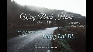 Way Back Home | SHAUN | [Chipmunks Vesion]