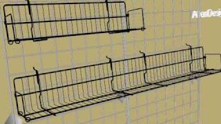 Gridwall Multi-purpose Wire Shelves For Videos And Dvds.avi