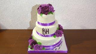 Свадебный торт Как собрать и украсить свадебный торт A wedding cake