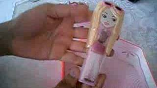 Opening the new Barbie Girls mp3 player