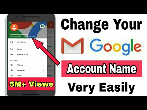 How To Change Gmail Id Name | Change Your Google Account Name
