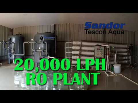 20,000 Liters per hour LPH Reverse Osmosis RO Plant Membrane technology