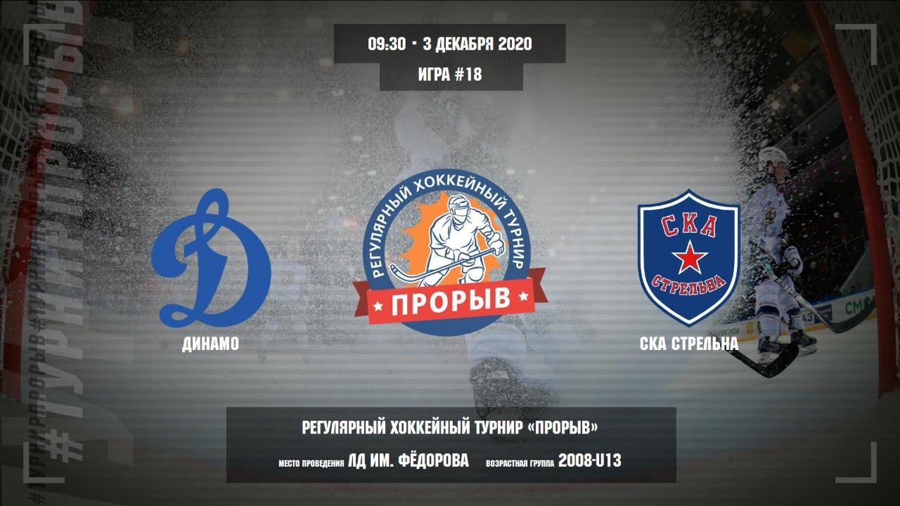 Матч №18, Динамо — СКА Стрельна, 2008-U13, Арена ЛД им. Фёдорова, 3 декабря 2020 в 09:30
