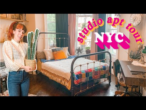 What $1500 will REALLY get you in NYC  |  My NYC Studio Apartment Tour  | Vintage-Inspired Space