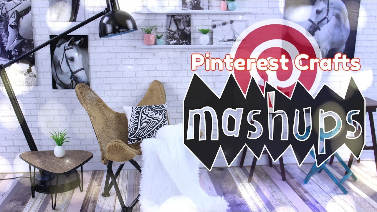 Mash Ups: Pinterest Crafts - Dollhouse Table | Butterfly Chair | Watercolor Unicorn & More
