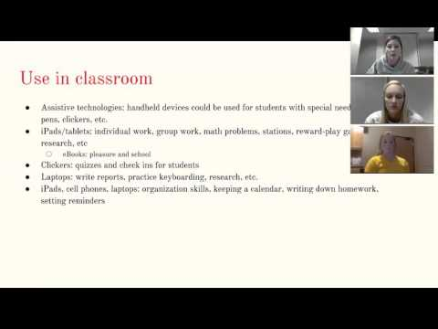 Mobile Technologies and Handheld Devices-Technology in the Classroom 2015