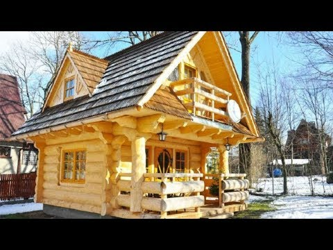 Tiny Log House By The Little
