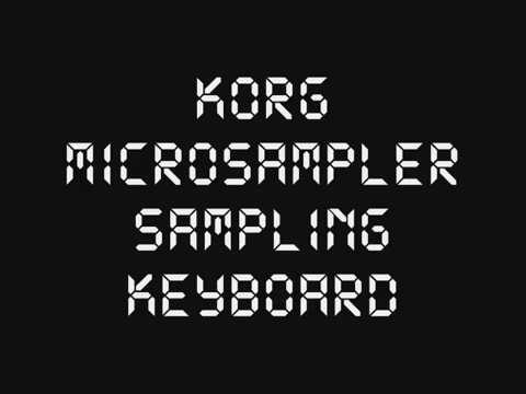 Korg Microsampler - Demo song and drum samples