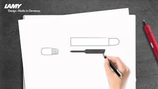 Замена стержня в шариковой ручке LAMY pico(, 2015-07-05T17:27:03.000Z)