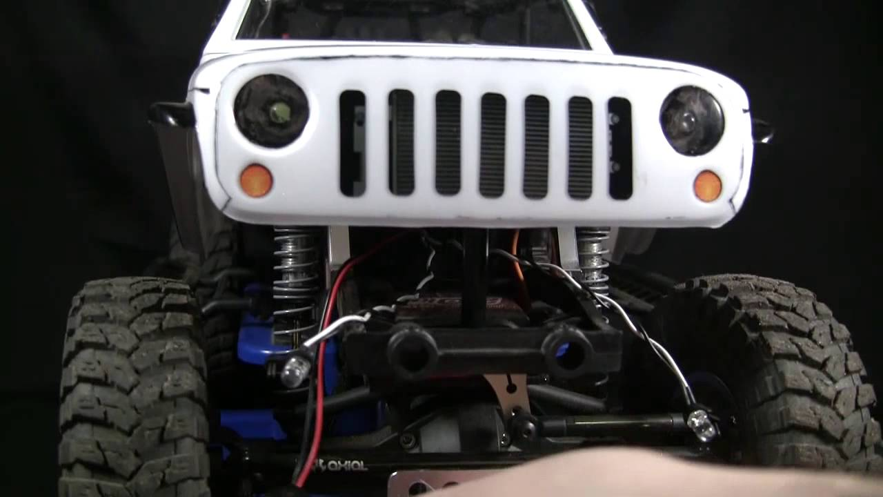 Rc4wd 95 Cti Warn Winch Install On Stock Axial Scx10 Front Bumper Wiring Jeep Wrangler
