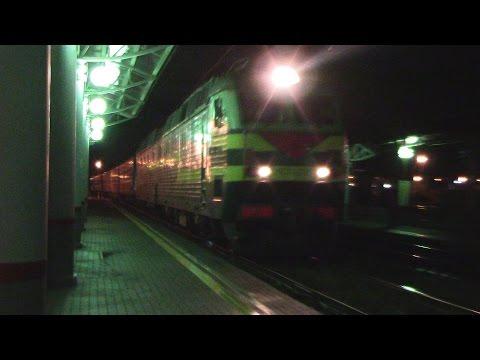 Электровоз ЧС7-086 с поездом Саранск - Москва