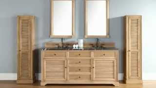 "New James Martin 72"" Double Savannah Bathroom Vanities In Solid Wood From Homethangs.com"