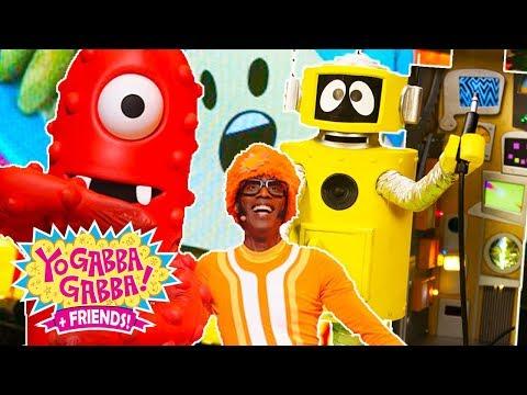Yo Gabba Gabba! Family Fun - FREEZE GAME, PARTY IN MY TUMMY SONGS  | DJ LANCE ROCK | Kids Songs