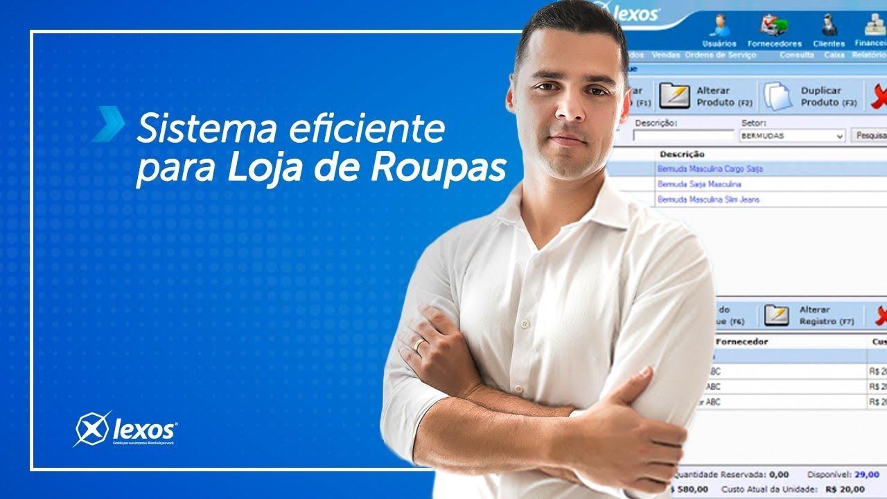 e6510f0b1ac1 Software para Loja de Roupas | Lexos automação comercial