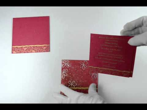 D 1788 Pink Color Handmade Paper Small Size Cards Light Weight