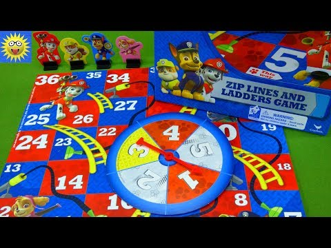 Paw Patrol Zip Line and Ladders Game Numbers Recognition Counting Fun Best Learning Videos for Kids |