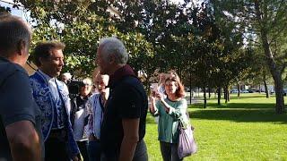 Encuentro del alcalde de Logroño, Pablo Hermoso de Mendoza, con el rejoneador del mismo nombre