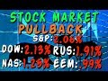 Stock Market Pullback  - Oct 11, 2018 S&P -2.06%, DOW -2.13%, NAS -1.25%, RUS -1.91%, EEM -.99%