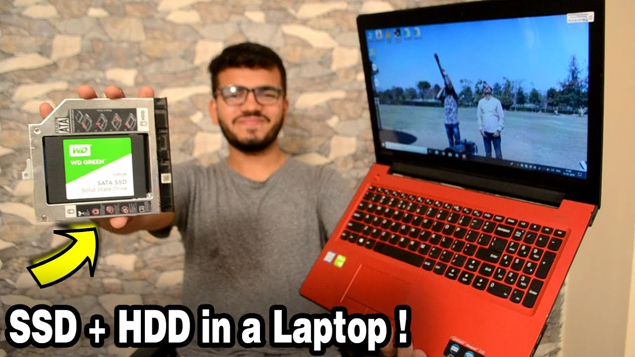 Installing SSD + HDD Together on a LAPTOP and keeping GENUINE WINDOWS !  Boot with SSD & store on HDD