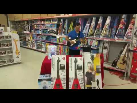 My Playing The First Act Electric Guitar Solo In Toys R US Hatillo