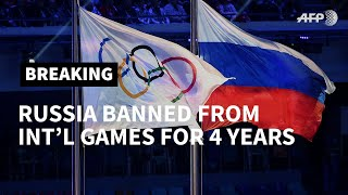 WADA bans Russia from Olympics for four years over doping | AFP