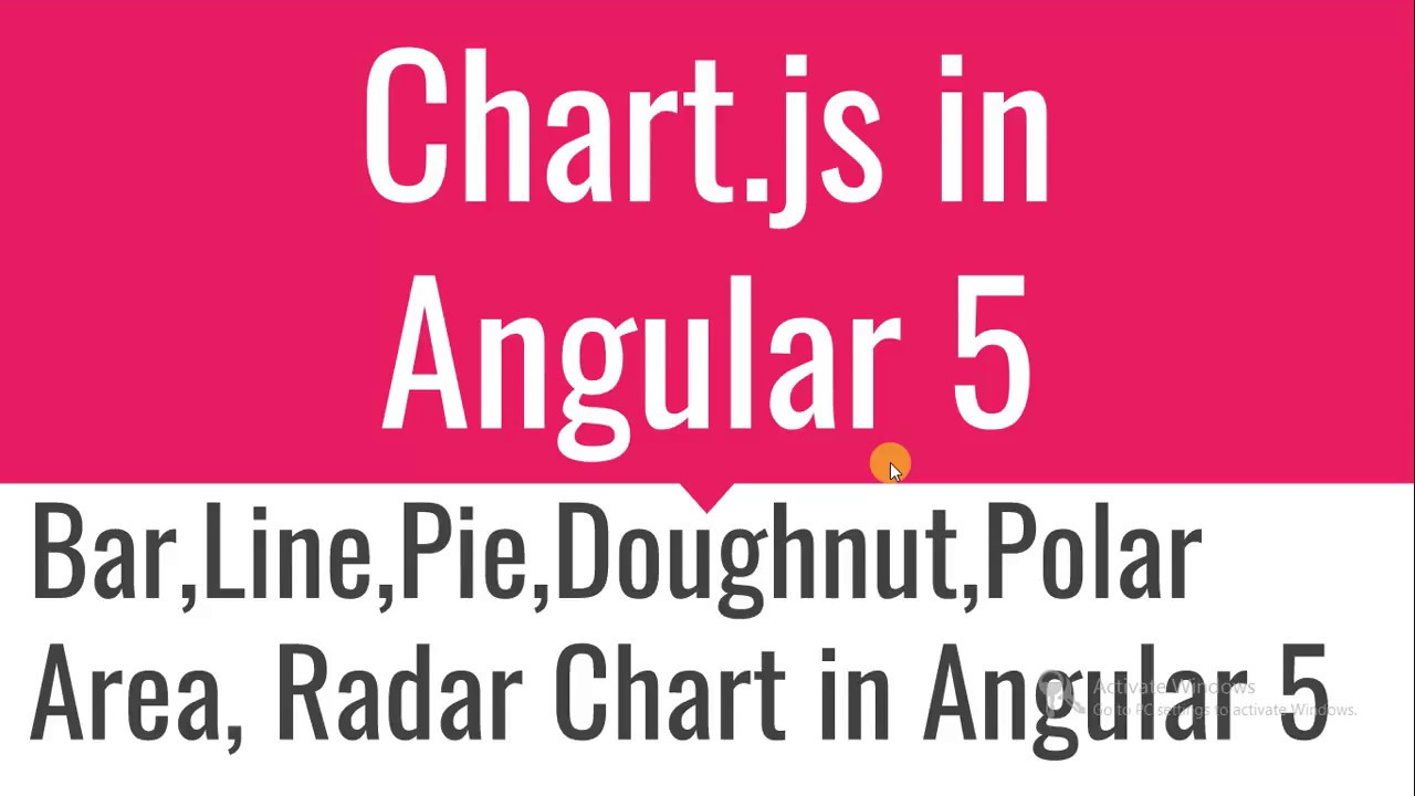 How to use chart js in angular 5
