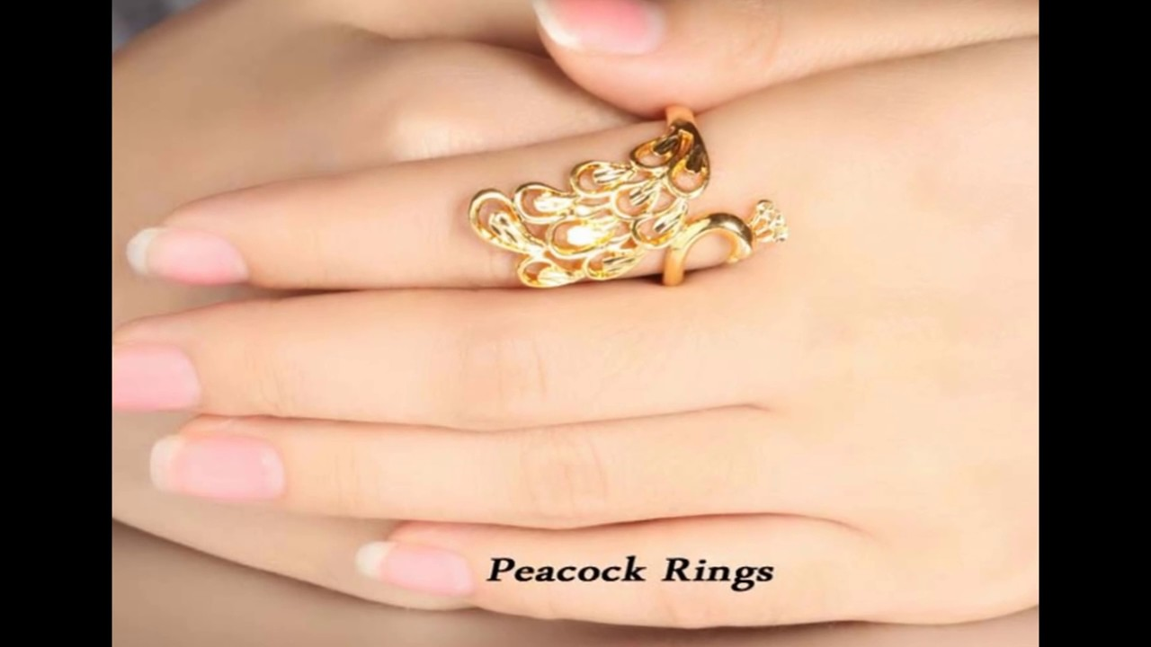 Latest Simple Gold Ring For Ladies Designs - YouTube