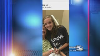 18-year-old girl battles flu in the hospital