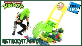 Teenage Mutant Ninja Turtles Retrocatapult TMNT Ooze Throwing Playset Video Review