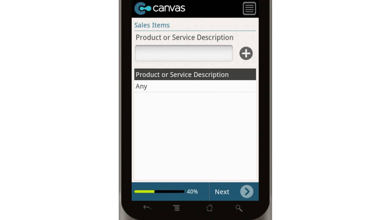 order form app  Canvas Sales Order Form Simple with Mobile Payment Option Mobile App