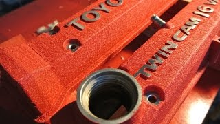 How to paint valve covers cam covers with a wrinkle finish
