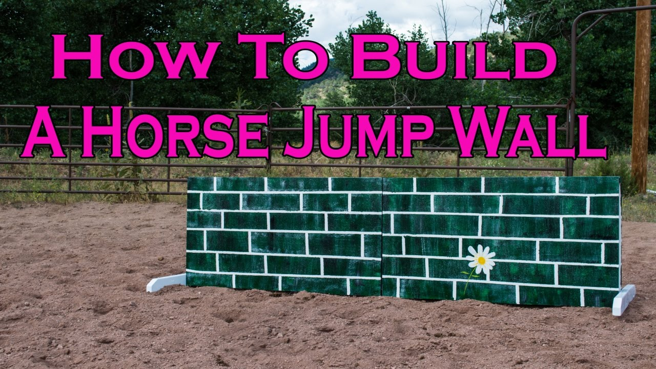 how to build a wall for a horse jump youtube. Black Bedroom Furniture Sets. Home Design Ideas