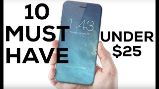 TOP 10 BEST IPHONE ACCESSORIES Under $25!! MUST HAVE!! 2017 REVIEW (4K)