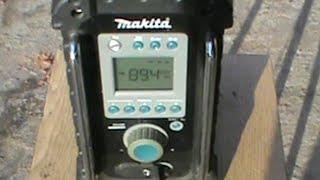 Makita BMR100 Строительное радио Обзор Construction Radio Overview