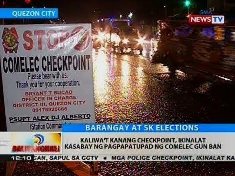 BT: Kaliwa't kanang checkpoint, ikinalat kasabay ng pagpapatupad ng Comelec gun ban