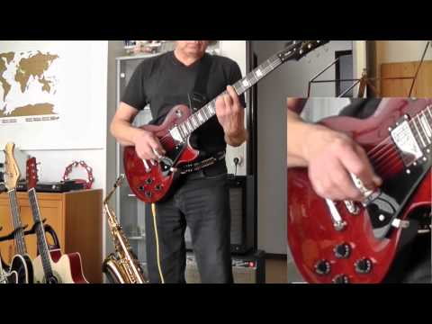 Les Paul: Demo Studio Deluxe WR guitar Epiphone Gibson at Fender Deluxe reverb amp 1965 Mustang II