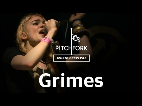 Grimes performs