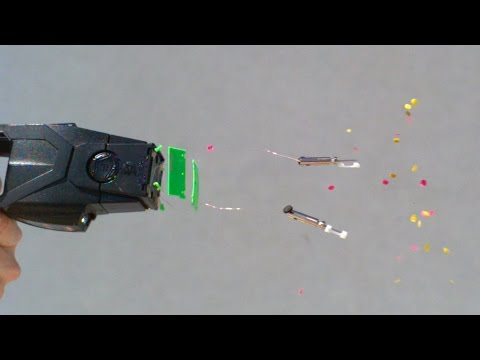 Taser Impacts on Bare Skin at 28,000fps - The Slow Mo Guys